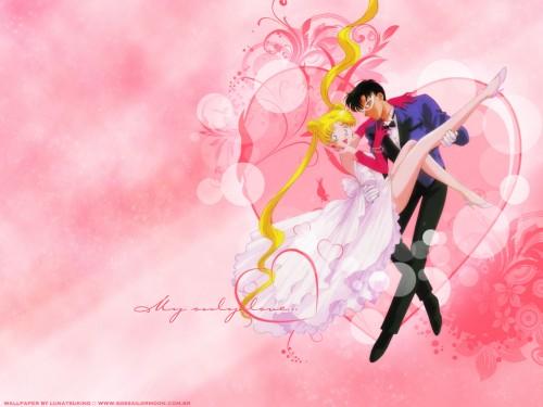 Toei Animation, Bishoujo Senshi Sailor Moon, Mamoru Chiba, Usagi Tsukino Wallpaper
