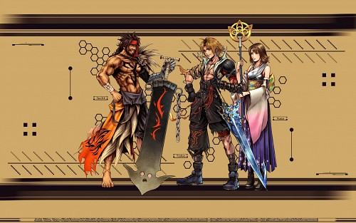 Square Enix, Dissidia Final Fantasy, Final Fantasy X, Yuna, Tidus Wallpaper