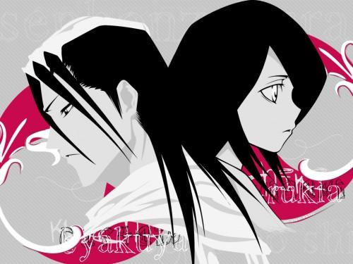 Kubo Tite, Studio Pierrot, Bleach, Byakuya Kuchiki, Rukia Kuchiki Wallpaper