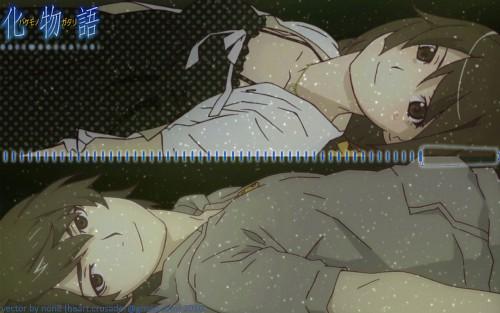 Akio Watanabe, Shaft (Studio), Bakemonogatari, Koyomi Araragi, Hitagi Senjougahara Wallpaper