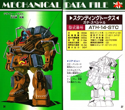 Sunrise (Studio), Armored Trooper Votoms, Character Sheet, Vehicle Designs