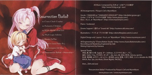 Buriki, Touhou, Alice Margatroid, Shinki, Album Cover