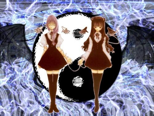 Aoi Nanase, Angel Dust, Akiho Kudou, Yuina Hatori Wallpaper