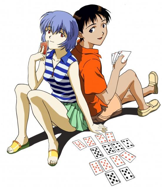 Yoshiyuki Sadamoto, Neon Genesis Evangelion, Shinji Ikari, Rei Ayanami, Vector Art