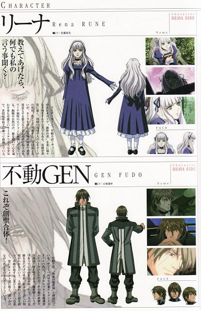Sousei no Aquarion, Rena Rune, Gen Fudo, Character Sheet