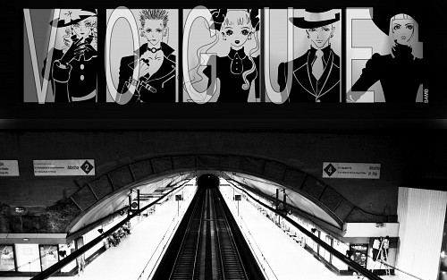 Paradise Kiss Wallpaper Advertisement In The Subway Minitokyo