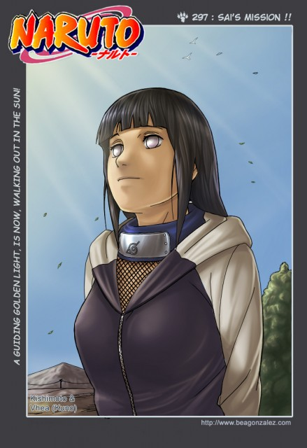 Studio Pierrot, Naruto, Hinata Hyuuga, Chapter Cover, Colorizations