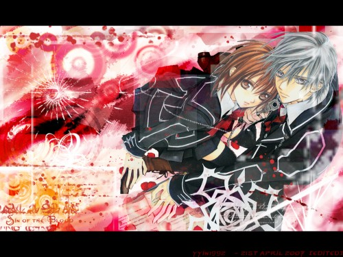 Matsuri Hino, Vampire Knight, Zero Kiryuu, Yuuki Cross Wallpaper