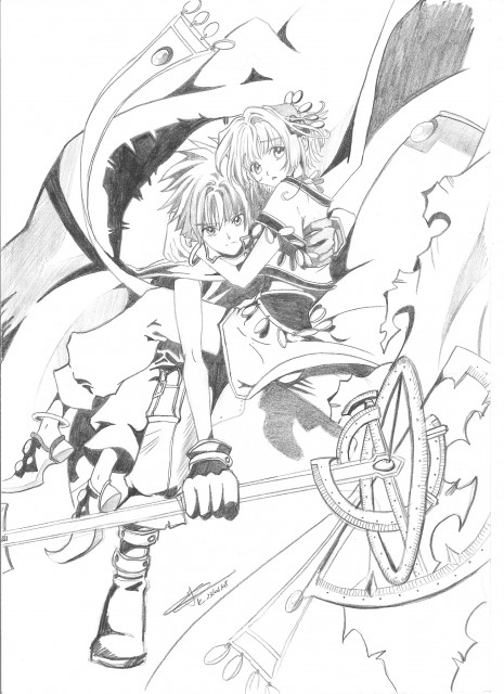 CLAMP, Tsubasa Reservoir Chronicle, Syaoran Li, Sakura Kinomoto, Member Art