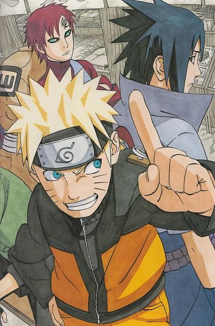 Masashi Kishimoto, Naruto, Naruto Uzumaki, Gaara, Sasuke Uchiha