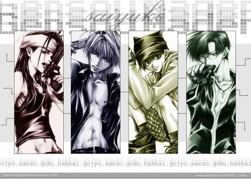 Kazuya Minekura, Studio Pierrot, Saiyuki, Sha Gojyo, Cho Hakkai Wallpaper