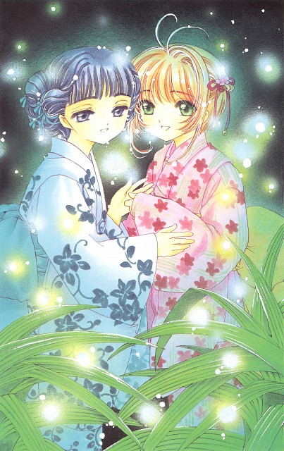 CLAMP, Cardcaptor Sakura, Cardcaptor Sakura Illustrations Collection 3, Tomoyo Daidouji, Sakura Kinomoto