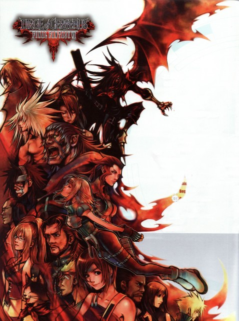 Square Enix, Final Fantasy VII: Dirge of Cerberus, Vincent Valentine, Shelke Rui, Red XIII
