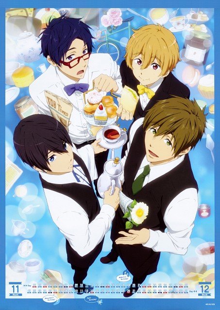 Kyoto Animation, Free!, Free! -Eternal Summer- Calendar 2015, Haruka Nanase (Free!), Rei Ryuugazaki