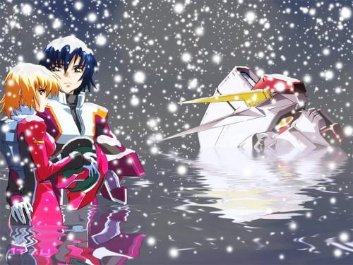 Sunrise (Studio), Mobile Suit Gundam SEED Destiny, Cagalli Yula Athha, Athrun Zala Wallpaper