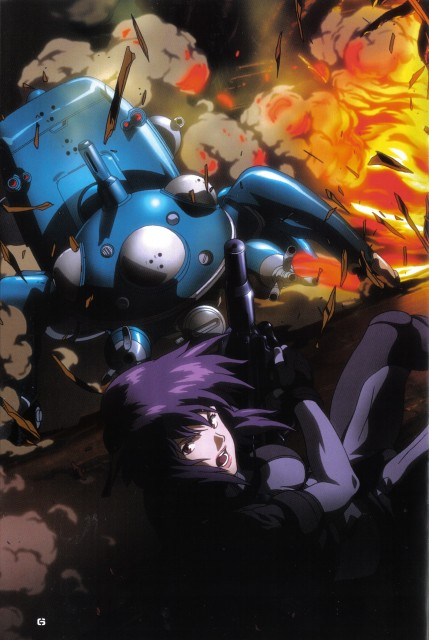 Masamune Shirow, Ghost in the Shell, Tachikoma, Motoko Kusanagi