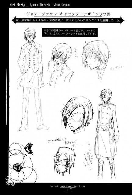 Yana Toboso, Kuroshitsuji, Kuroshitsuji Character Guide, John Brown (Kuroshitsuji), Character Sheet