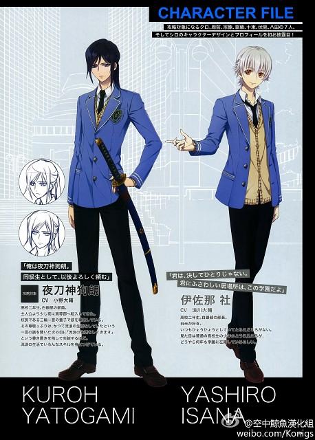 GoHands, K Project, Kuroh Yatogami, Yashiro Isana, Character Sheet