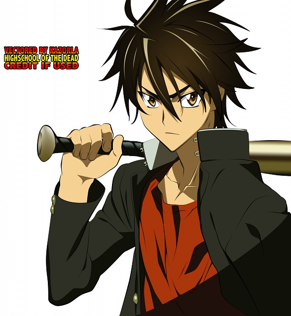 Shouji Sato, Madhouse, High School of the Dead, Takashi Komuro, Vector Art