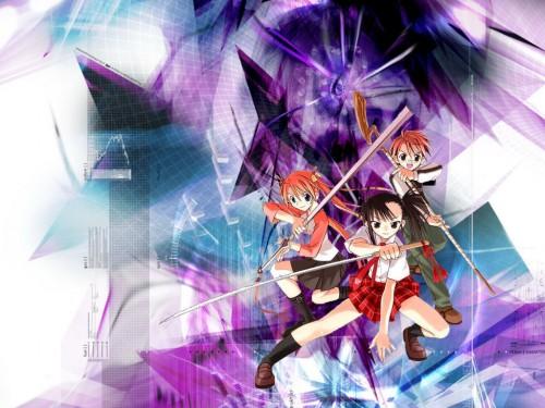 Ken Akamatsu, Mahou Sensei Negima!, Setsuna Sakurazaki, Asuna Kagurazaka, Negi Springfield Wallpaper