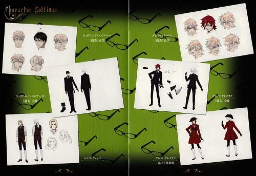 Yana Toboso, Kuroshitsuji, William T. Spears, Grell Sutcliff, Character Sheet