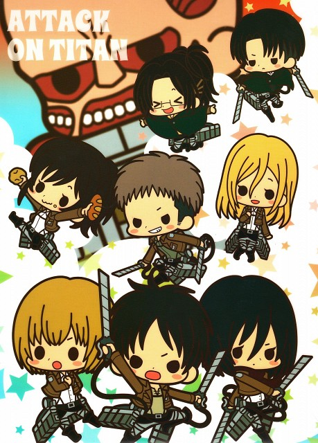 Production I.G, Shingeki no Kyojin, Krista Lenz, Mikasa Ackerman, Hange Zoe