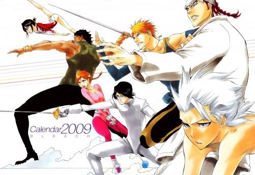 Kubo Tite, Bleach, Bleach 2009 Comic Calendar, Ichigo Kurosaki, Uryuu Ishida
