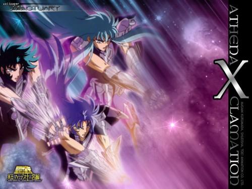Masami Kurumada, Saint Seiya, Gemini Saga, Aquarius Camus, Capricorn Shura Wallpaper