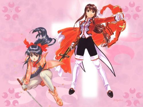 Kousuke Fujishima, Sega, Sakura Wars, Erica Fontaine, Sakura Shinguji Wallpaper