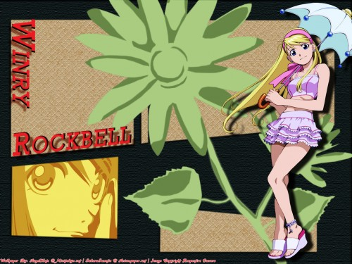 Hiromu Arakawa, BONES, Fullmetal Alchemist, Winry Rockbell Wallpaper