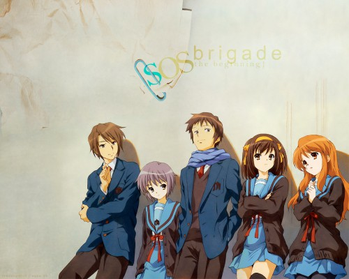 Noizi Ito, Kyoto Animation, The Melancholy of Suzumiya Haruhi, Yuki Nagato, Kyon Wallpaper