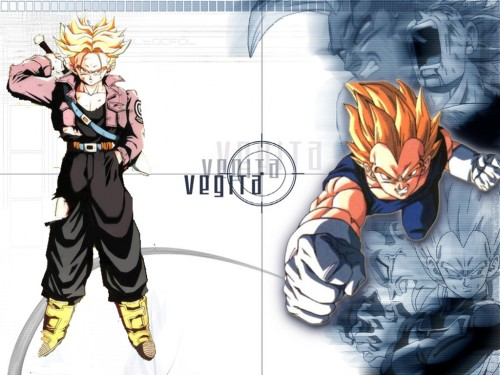 Akira Toriyama, Toei Animation, Dragon Ball, Super Saiyan Trunks, Super Saiyan Vegeta Wallpaper