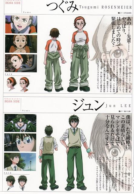 Sousei no Aquarion, Tsugumi Rosenmeier, Jun Lee, Character Sheet
