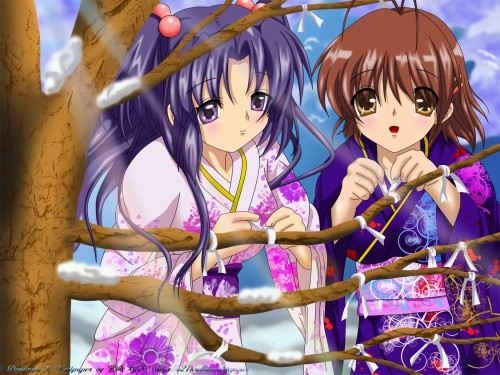 Kyoto Animation, Clannad, Kotomi Ichinose, Nagisa Furukawa, Member Art Wallpaper