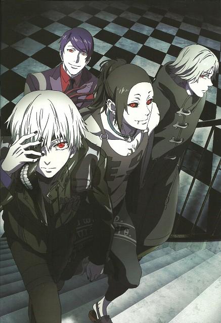 Tokyo Ghoul, Ken Kaneki, Uta (Tokyo Ghoul), Yomo Renji, Shu Tsukiyama