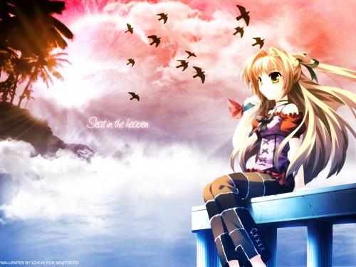 Princess Soft, Sora-iro no Organ, Lefeuille Wallpaper