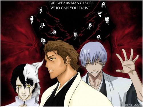 Kubo Tite, Studio Pierrot, Bleach, Gin Ichimaru, Sousuke Aizen Wallpaper