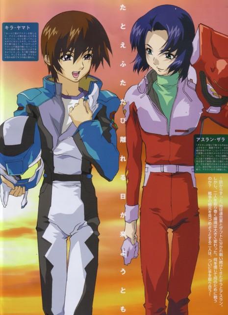 Sunrise (Studio), Mobile Suit Gundam SEED, Kira Yamato, Athrun Zala, Magazine Page