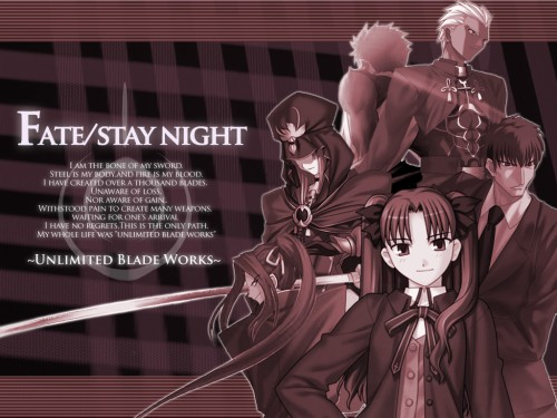 TYPE-MOON, Fate/stay night, Kuzuki Souichirou, Archer (Fate/stay night), Rin Tohsaka Wallpaper