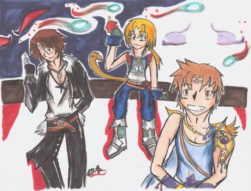 Final Fantasy IX, Dissidia Final Fantasy, Final Fantasy VIII, Zidane Tribal, Bartz Klauser
