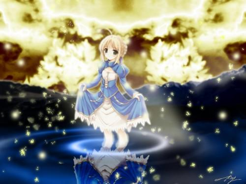 Koucha, Fate/stay night, Saber, Doujinshi Wallpaper