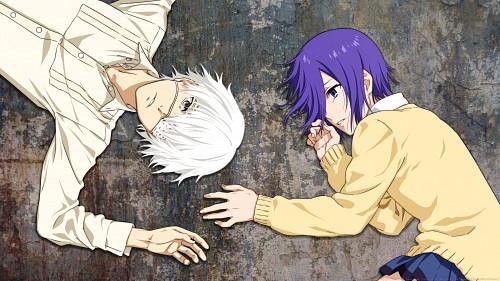 Sui Ishida, Tokyo Ghoul, Touka Kirishima, Ken Kaneki, Vector Art Wallpaper
