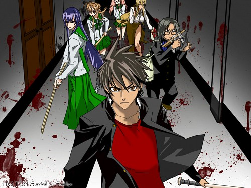 High School of the Dead, Saya Takagi, Shizuka Marikawa, Rei Miyamoto, Kohta Hirano Wallpaper
