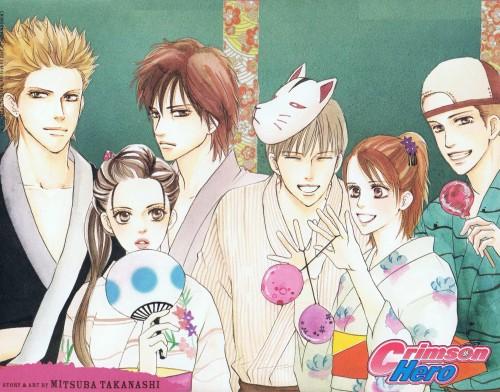 Mitsuba Takanashi, Crimson Hero, Tomoyo Osaka, Keisuke Haibuki, Yushin Kumagai
