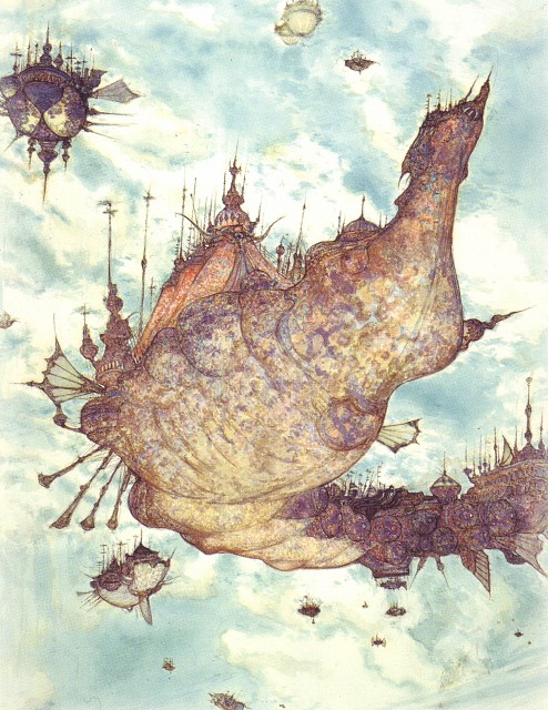 Yoshitaka Amano, Square Enix, Final Fantasy IX Postcard Book, Final Fantasy IX