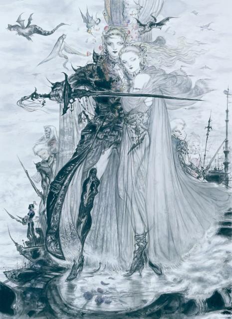 Yoshitaka Amano, Square Enix, Final Fantasy VI, Final Fantasy Dissidia, Terra Branford