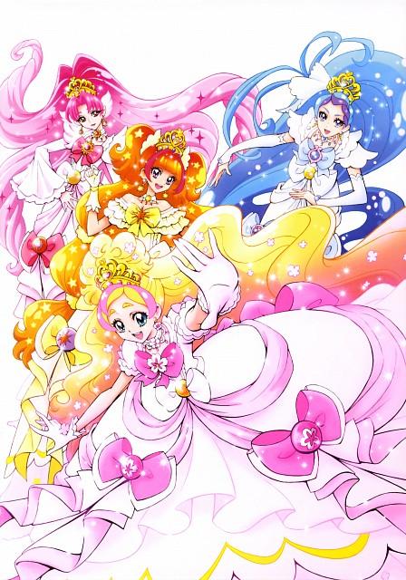 Futago Kamikita, Go! Princess Precure, Futago Kamikita All Precure Illustration Collection, Cure Flora, Cure Scarlet