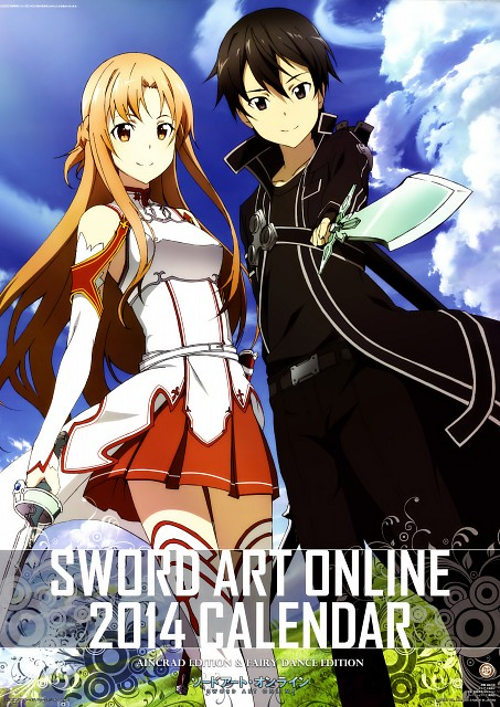 Mitsutaka Echigo, A-1 Pictures, Sword Art Online 2014 Calendar, Sword Art Online, Asuna Yuuki