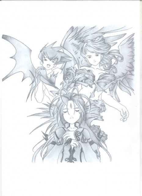 Kousuke Fujishima, Ah! Megami-sama, Belldandy, Holy Bell, Member Art