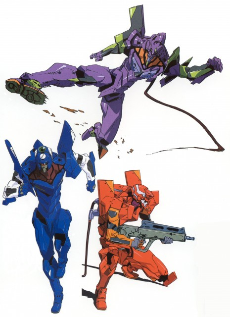 Yoshiyuki Sadamoto, Neon Genesis Evangelion, Unit-02, Unit-01, Unit-00